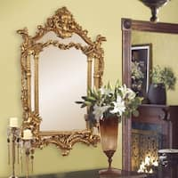 Howard Elliot Collection Allan Andrews Arlington Gold Baroque Mirror