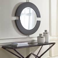 Howard Elliott Collection Allan Andrews Orbit Matte-black-finished Round Wall Accent Mirror