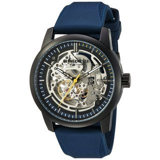 Kenneth Cole New York Automatic 10030791 Skeletal Dial Navy SIlicone Strap Watch