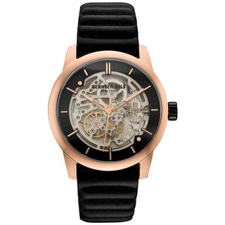 Kenneth Cole New York Men's Automatic 10030789 Skeleton Dial Rose Gold-tone and Black Watch