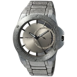 Kenneth Cole New York Men's Transparency 10030787 Antique Stainless Steel Date Watch