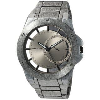 Kenneth Cole New York Men's Transparency 10030787 Antique Stainless Steel Date Watch|https://ak1.ostkcdn.com/images/products/18226469/P24367170.jpg?impolicy=medium