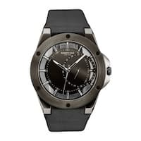 Kenneth Cole New York Men's Transparency 10030785 Black Leather Watch