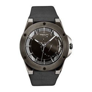 Kenneth Cole New York Men's Transparency Black Leather Watch