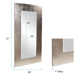 Allan Andrews Sonic Silver Wood Mirror - Silver/Champagne