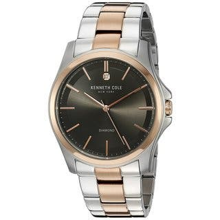 Kenneth Cole New York Diamond 10027880 Two-Tone Watch|https://ak1.ostkcdn.com/images/products/18226497/P24367176.jpg?impolicy=medium