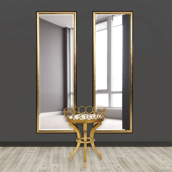 Allan Andrews Cagney Goldtone Tall Wall Mirror With Black Wooden Frame - Gold - A/N