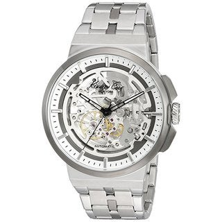 Kenneth Cole New York Automatic 1022315 Skeletal Dial Stainless Steel Watch