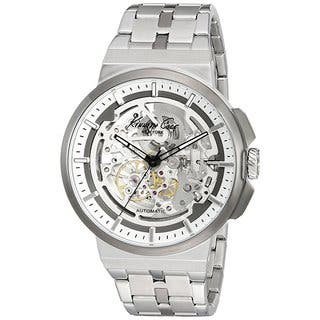 Kenneth Cole New York Automatic 1022315 Skeletal Dial Stainless Steel Watch (Option: Stainless Steel)|https://ak1.ostkcdn.com/images/products/18226505/P24367174.jpg?impolicy=medium