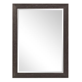 Howard Elliott Collection Allan Andrews Lincoln Black-and-white-finished Wood and Glass Rectangular Wall Accent Mirror