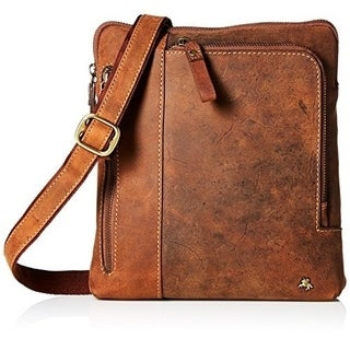 Visconti Roy Leather Distressed Messenger Bag / Crossbody bag / Handbag, Ideal for Ipad or Tablet