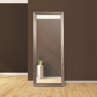Allan Andrews Maxwell Leaner Silvertone Wood Mirror - Champagne/Silver - A/N