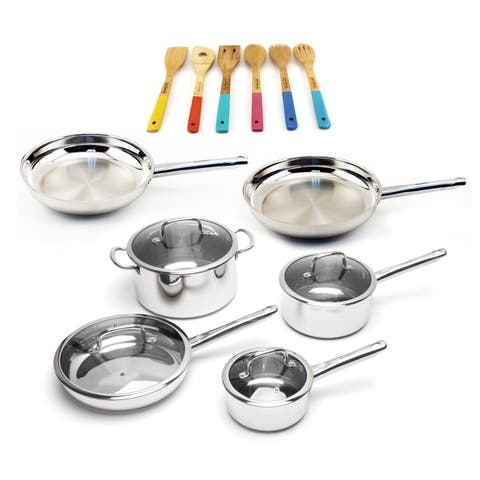 Boreal 16pc SS Cookware Set and Utensils