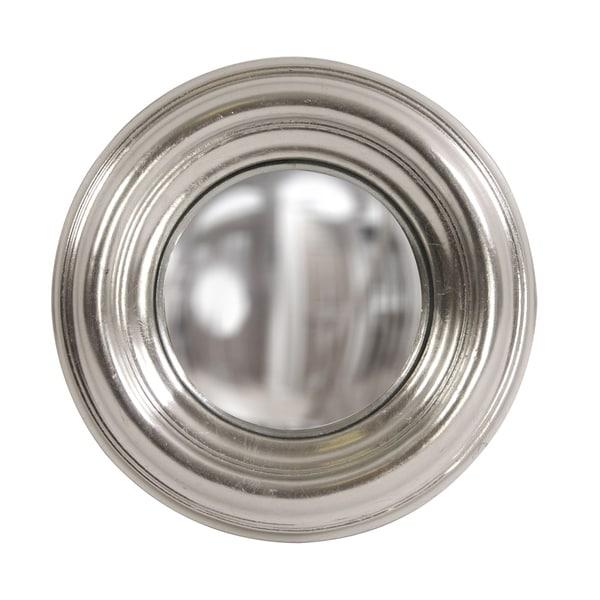 Allan Andrews Sylvia Round Silver Convex Accent Mirror