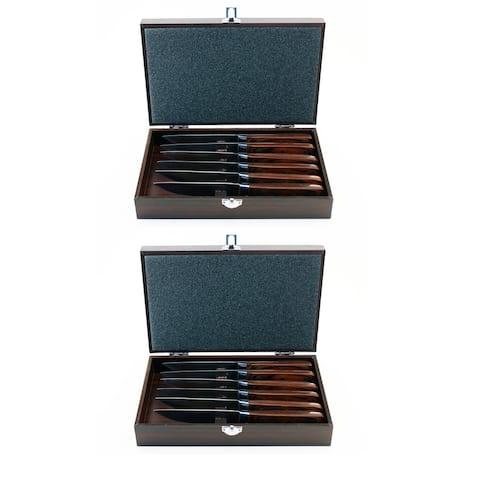 Pakka 14pc Steak Knife Set & 2 Case