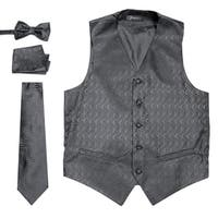 Ferrecci Mens Adjustable Geometric Design Vest Set