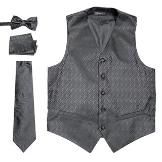 Ferrecci Mens Adjustable Geometric Design Vest Set (More options available)