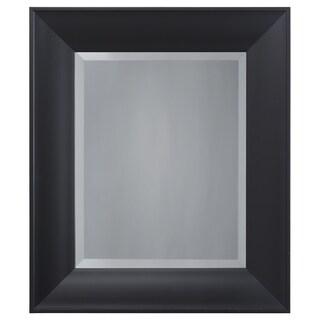 Yosemite Home Decor Black Resin Accent Mirror