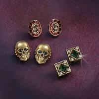 Elvira's Gothic Earring Trio