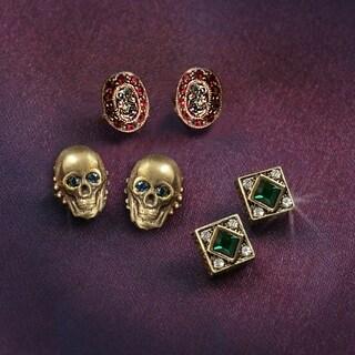 Elvira's Gothic Earring Trio (Option: Brown)