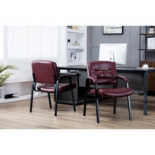 Porthos Home Stackable Office Chair With Bunched Seam Stitching