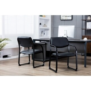 Porthos Home Stackable Office Chair With PVC Upholstery And Arm Res (3 options available)