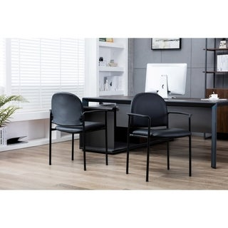Porthos Home Stackable Office Chair With PVC Upholstery And Arm Rest (2 options available)