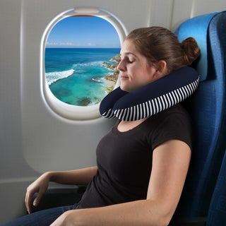 Windsor Home Memory Foam Striped Travel Pillow
