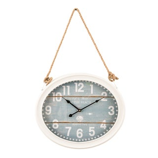 Shop Steel 16 Inch Wide X 32 Inch High Hanging Wall Clock