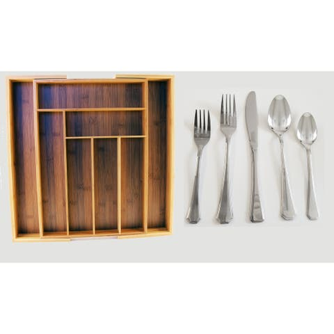 Everyday Cutlery set w/Caddy Service for 8 40pc