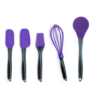 Geminis 5pc Silicone Whisk & Tool Set Purple