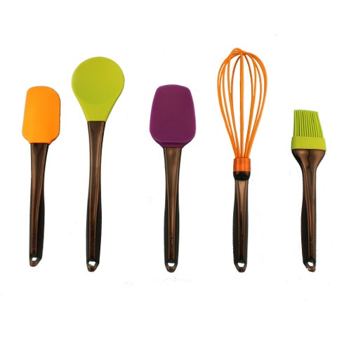 Geminis 5pc Silicone Whisk & Tool Set Multi Color