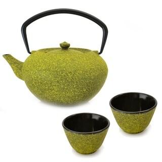 Studio Cast Iron Teapot Set Lemon : Teapot & 2 Cups