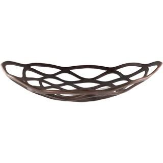 Aiello Copper Modern Metal Decorative Bowl