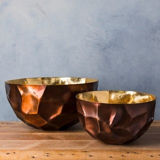 Ximeno Copper Modern Metal Small Decorative Bowl