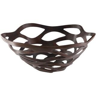 Romey Copper Modern Metal Decorative Bowl