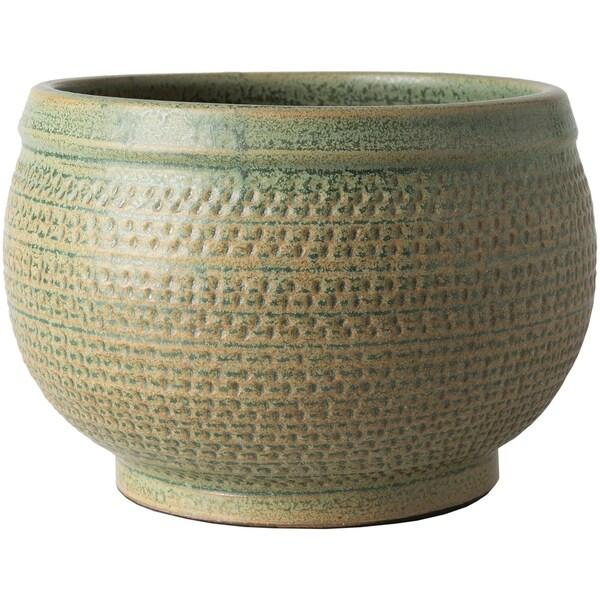 Idella Green Traditional Ceramic Decorative Bowl
