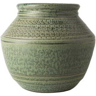Edite Green Ceramic Traditional Decorative Vase