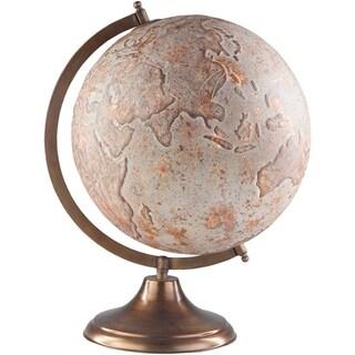 "Terrafirma Updated Traditional Copper Metal 17"" Decorative Globe"