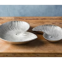 Anaiah Silver Coastal Decorative Tray (Set of 2)