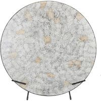 "Arushi Gray Natural Fiber Transitional 26.4"" Decorative Plate"