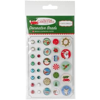 A Very Merry Christmas Decorative Brads 34/Pkg|https://ak1.ostkcdn.com/images/products/18227039/P24367545.jpg?impolicy=medium