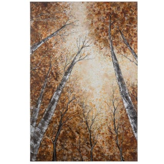 Yosemite Home Decor 'Into The Trees I' Original Hand-painted Wall Art