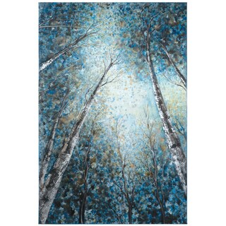 Yosemite Home Decor 'Into The Trees' Original Hand-painted Gallery-wrapped Wall Art