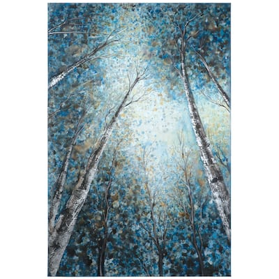 Yosemite Home Decor 'Into The Trees' Original Hand-painted Gallery-wrapped Wall Art - Multi-Color