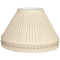 Royal Designs Empire Pleated Bottom Gallery Designer Lamp Shade, Beige, 6 x 14 x 10
