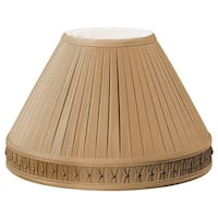 Royal Designs Empire Pleated Bottom Gallery Designer Lamp Shade, Antique Gold, 6 x 14 x 10