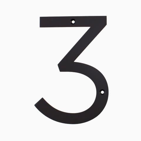 """Maykke Hugo Stainless Steel House Number """"3"""""""