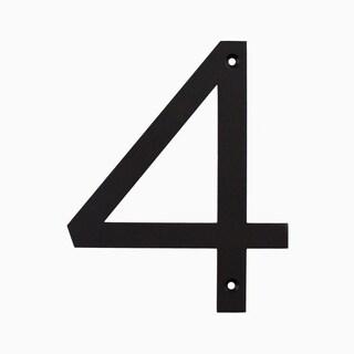 """Maykke Hugo Stainless Steel House Number """"4"""""""