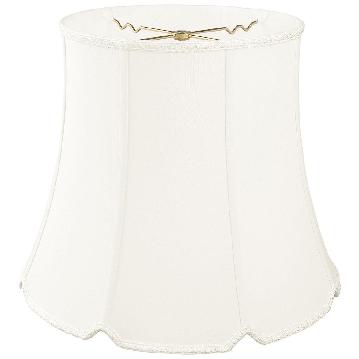 Royal Designs Tall Drum Bottom V-Notch Designer Lamp Shad...